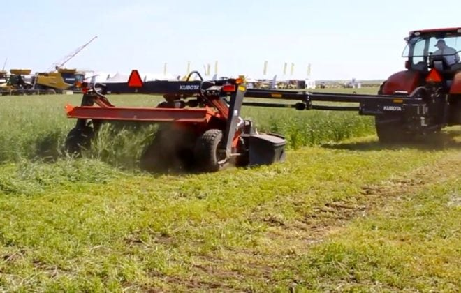 VIDEO: Kubota mower cuts hay down to size at Ag in Motion