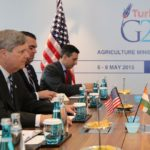 "U.S. Ag Secretary Tom Vilsack, shown here at the G20 agriculture ministers' meeting Thursday in Istanbul, says Canada has yet to put in a ""reasonable offer"" toward a Trans-Pacific Partnership deal. (USDA.gov via Flickr)"