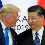 U.S. President Donald Trump appears with China President Xi Jinping at the G20 leaders summit on June 29, 2019.