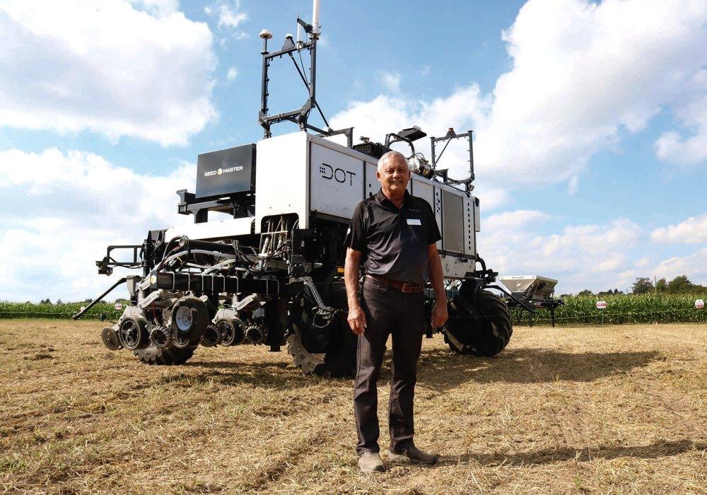 Norbert Beaujot's DOT system, shown here in Woodstock, Ont. in September 2019, has a new majority owner in South Dakota-based Raven Industries. (Farmtario photo by John Greig)