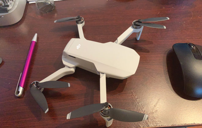 Church suggests the new Mavic Mini drone as a training drone. It retails for less than $500 and has a range of four kilometres. It also weighs less than 250 grams, so it doesn't require a license from Transport Canada to fly it.