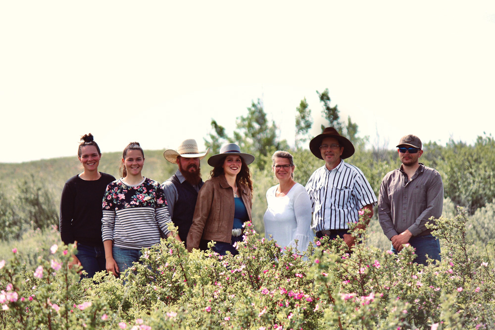 The McNary family. All four of Warren and Lenamarie's adult children remain involved in the ranch, either full- or part-time.