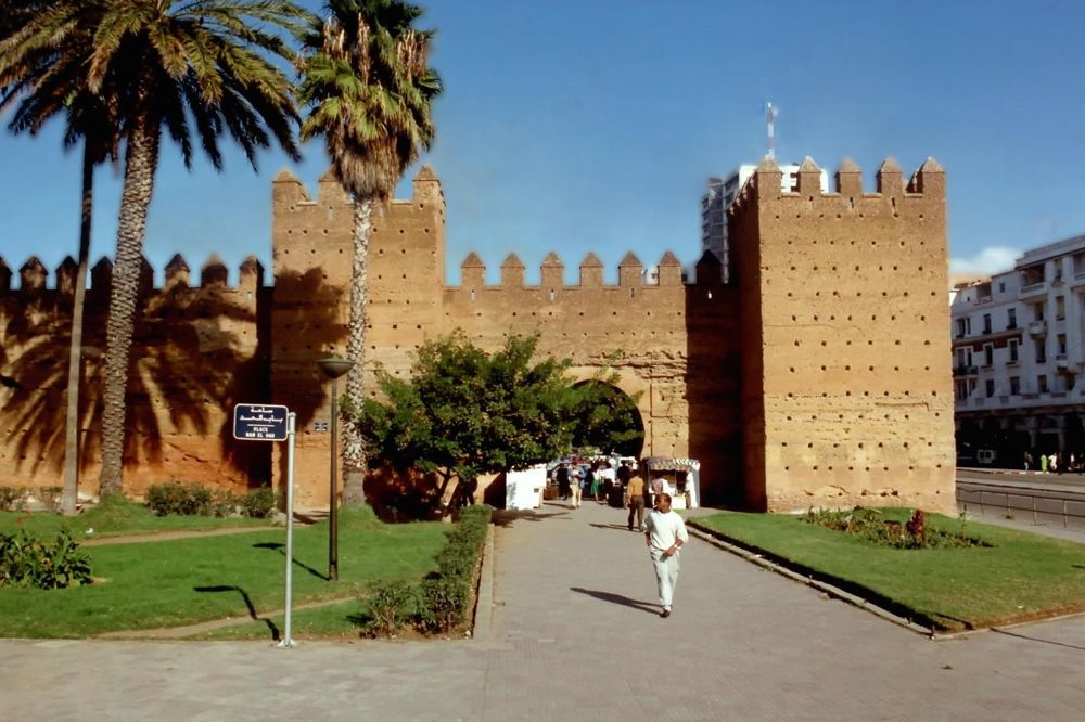 A wall in the medina (ancient city quarter) of Rabat, Morocco's capital. (Cia.gov)